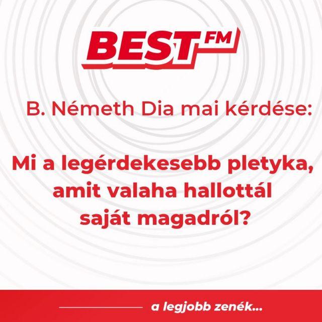 Na, ki vele! 😜 . . #bestfm #alegjobbzenek #bestfmradiomagyarorszag #napkérdése